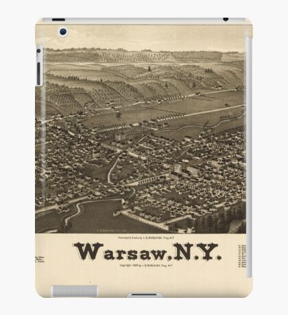 Panoramic Maps Warsaw NY iPad Case/Skin