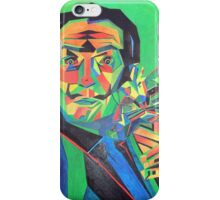 Salvador Dali with Ocelot and Cane iPhone Case/Skin