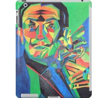 Salvador Dali with Ocelot and Cane iPad Case/Skin
