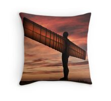 Angel Of The North Throw Pillow