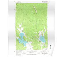 USGS Topo Map Washington State WA Newman Lake 242806 1973 24000 Poster