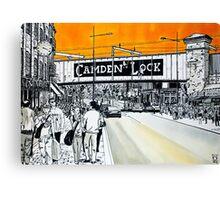Splash Cities - London 02 - Camden Canvas Print