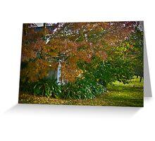 Brixton Cottage on Leura Park - autumn Greeting Card