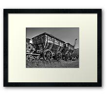HDR Old Coal Carts Framed Print