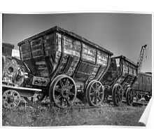 HDR Old Coal Carts Poster