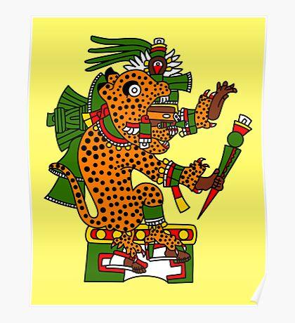 Jaguar Warrior - Codex Borgia Poster