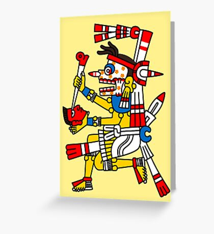 Undead with shrinked head - Codex Fejervary Mayer 23 Greeting Card