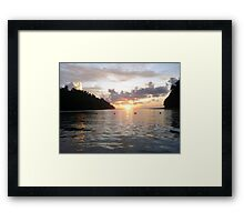 Sunset in Sabah, Malaysia - 2 Framed Print