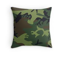 Army Camouflage by Chillee Wilson Throw Pillow