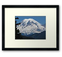 Remarkably Free - Majestic Mount Rainier Framed Print