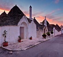 Trulli at Sunrise - Puglia Italy by David Lewins