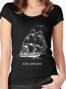 HMS Boreas Captained by Horatio Nelson T-shirt Women's Fitted Scoop T-Shirt
