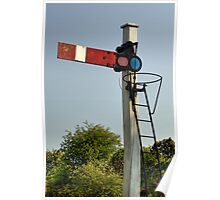 Old Train Signal Poster