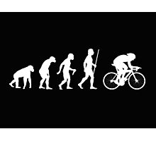 Funny Cycling Evolution T Shirt Photographic Print
