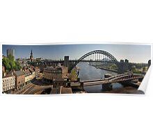 Newcastle Gateshead Panorama Poster