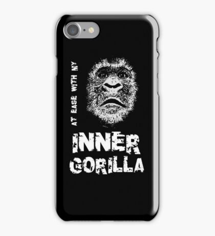 At Ease With My Inner Gorilla iPhone Case/Skin