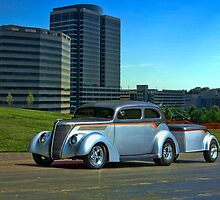 1937 Ford Sedan Hot Rod with matching Trailer by TeeMack