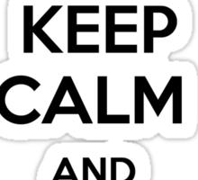 Keep calm and get the salt - light Sticker