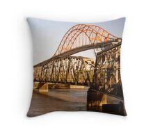 Fraser River Bridges, British Columbia Throw Pillow