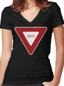 Abide [Tee & Case] Women's Fitted V-Neck T-Shirt