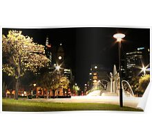 Water Fountain At Victoria Square - ADELAIDE SA Poster