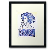 Staffordshire Blue Framed Print