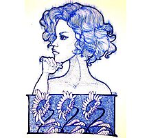 Staffordshire Blue Photographic Print