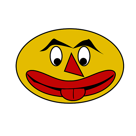 Bite Your Tongue - Funny Yellow Face by Scott Ruhs