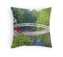 Somesville Foot Bridge Throw Pillow