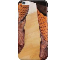 Long Sexy Legs In High Heels and Fishnet Stockings iPhone Case/Skin