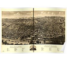 Panoramic Maps Albany New York 1879 Poster