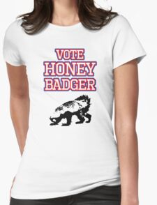 Vote Honey Badger Womens Fitted T-Shirt