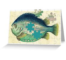 A puzzled fish Greeting Card