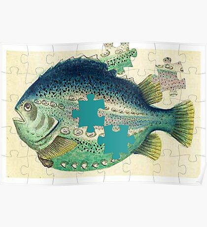 A puzzled fish Poster