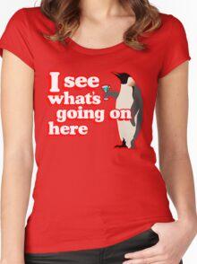 Drunken Penguin Jealousy Women's Fitted Scoop T-Shirt