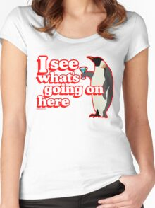 Drunken Penguin Jealousy Women's Fitted Scoop T-Shirt