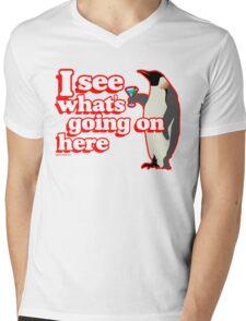 Drunken Penguin Jealousy Mens V-Neck T-Shirt
