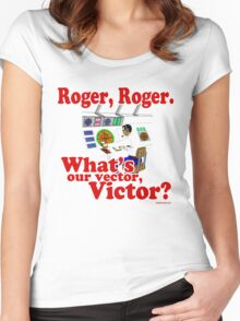 Roger, Roger, What's Your Vector Victor Women's Fitted Scoop T-Shirt