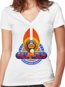 Fall Guy Stuntman Association Women's Fitted V-Neck T-Shirt