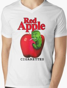 Red Apple Cigarettes Mens V-Neck T-Shirt
