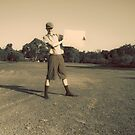 Sign Of An Antique Golfer by Ryan Jorgensen