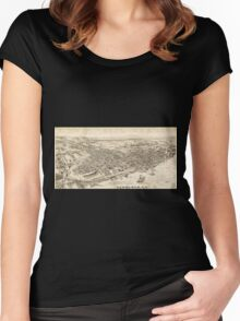 Panoramic Maps Newburgh NY Women's Fitted Scoop T-Shirt