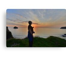 Cornwall: Sunset in a Glass Canvas Print