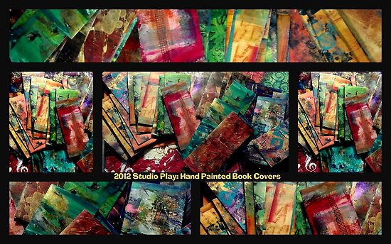 2012 Studio Play - Hand Painted Book Covers by © Angela L Walker