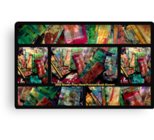 2012 Studio Play - Hand Painted Book Covers Canvas Print