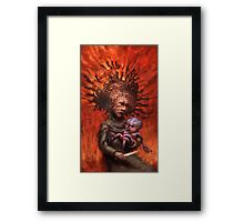 The Guardian and the Bone Dagger Framed Print