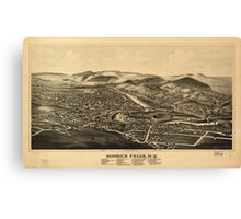 Panoramic Maps Hoosick Falls NY Canvas Print
