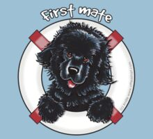 Black Newfie First Mate by offleashart