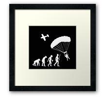 Skydiving Parachute Evolution Shirt Framed Print