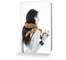 Snake woman Greeting Card